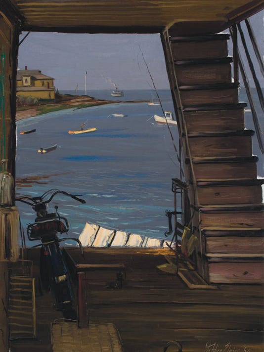 View from the Ferry signed Stephen Etnier '50 Courtesy Barridoff Galleries