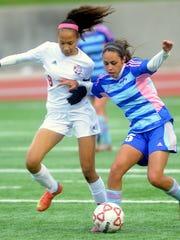 Abilene Cooper's Alex Rodriguez, right, battles Jefferson's