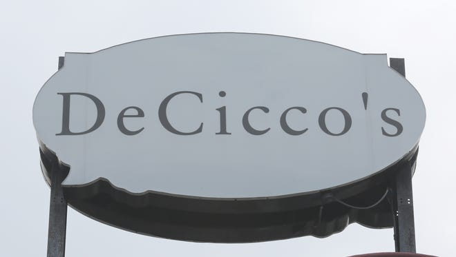 The DeCicco's supermarket logo on the Halstead Avenue store in Harrison, July 21, 2015.