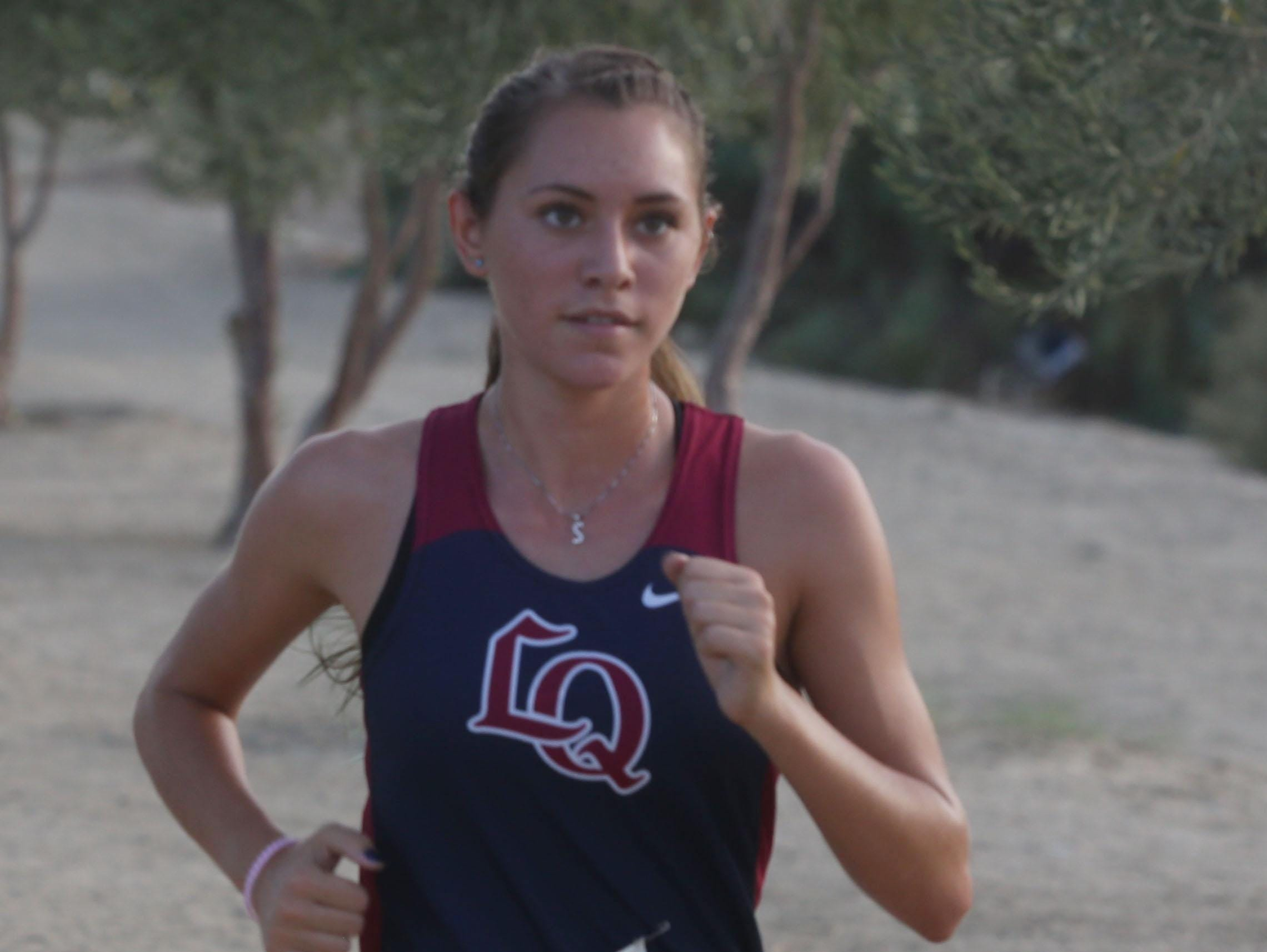 Sandra Flores of La Quinta High School won the girl's cross country race at Xavier Prep on October 14, 2015.