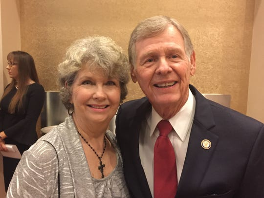 State Sen. Francis Thompson, D-Delhi, and his wife