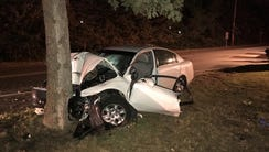 A late night single vehicle crash on Route 530 in Whiting