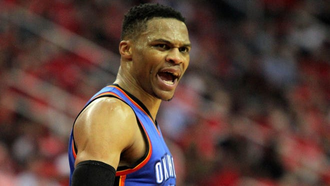 Thunder guard Russell Westbrook missed 14 of 18 fourth-quarter shots in Game 2.