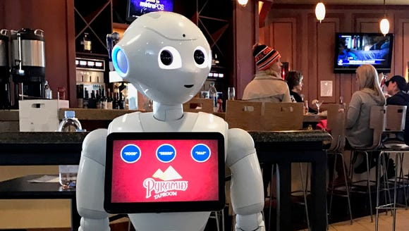 Pepper has been programmed to suggest food and drink