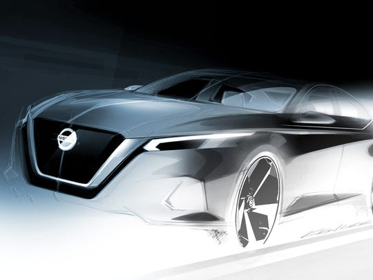 Official exterior sketch reveals an expressive, sophisticated all-new 2019 Altima and hints at the future of Nissan's sedan design language.