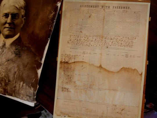 The Agreement with Freedmen document dated 1867.
