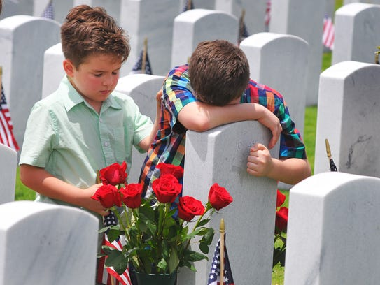A large crowd attended the Memorial Day Observance