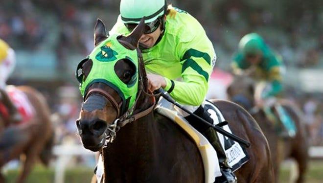 Melatonin zipped to a win Saturday in the Grade I, $1 million Santa Anita Handicap.
