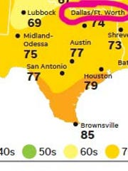 An addition to USA TODAY's weather map includes Fort