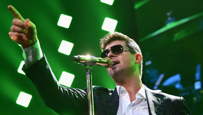 Robin Thicke will perform on Aug. 1 at the Indiana State Fairgrounds Coliseum.