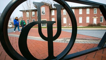 The University of Delaware campus is shown.
