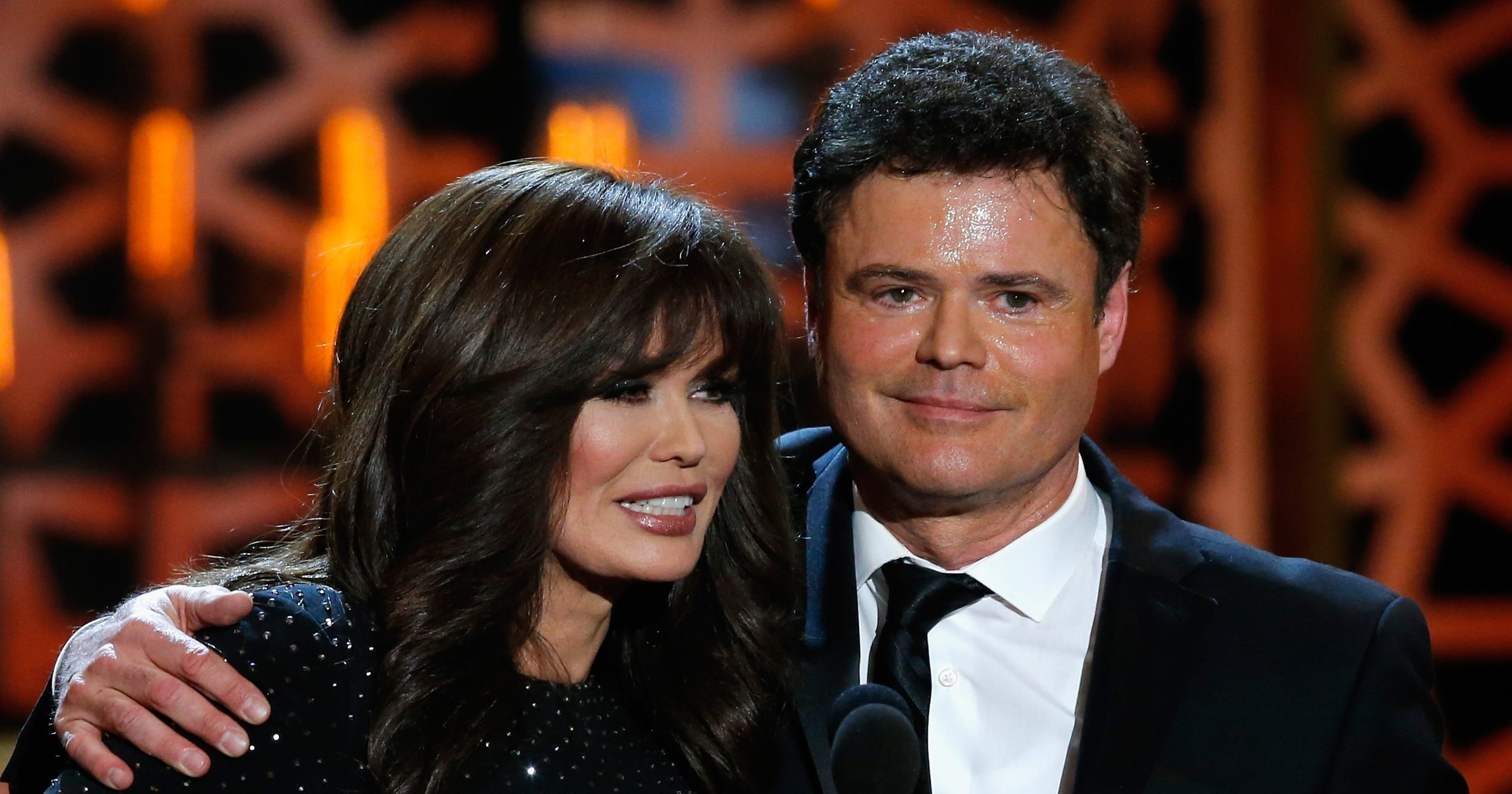 Donny Osmond Tells Us Whos The Boss Him Or Marie