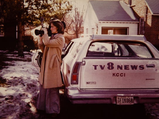 An old photo of KCCI anchor Mollie Cooney at the station