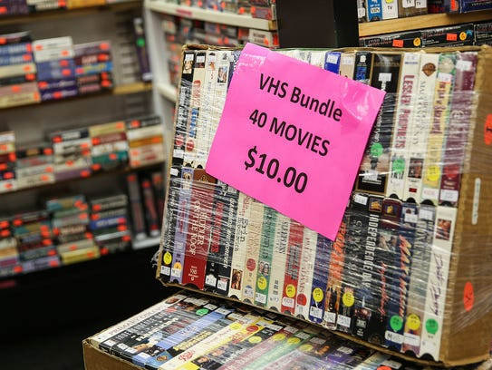 VHS tapes are a nostalgic specialty of S&I Videos,