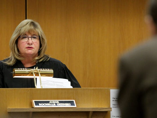 Judge Rochelle Gizinski presides over the sentencing