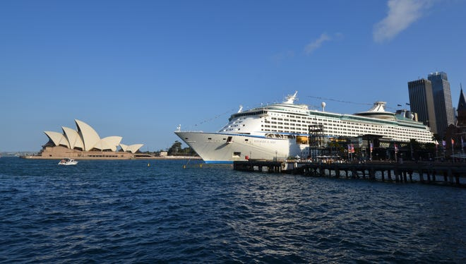 At 137,276 tons, Voyager of the Seas initially was considered so large that it would never sail anywhere outside of the Caribbean. Still, as cruising has grown worldwide in recent years, Royal Caribbean has redeployed the vessel to Europe, Asia and Australia. Here, it's docked in Sydney in November 2012.