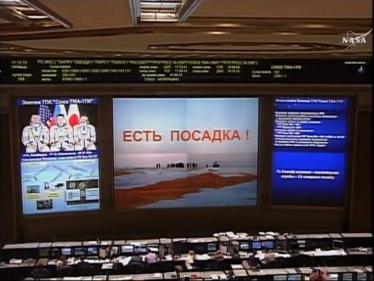 NASA's Lindgren, Soyuz return home from ISS Friday morning