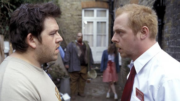 """Nick Frost and Simon Pegg in a scene from """"Shaun of the Dead"""" (2004)."""