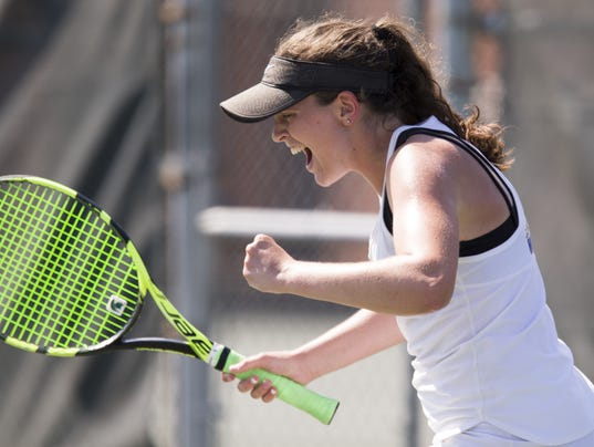 IHSAA girls tennis team state finals, from North Central High School. The competition was won by Carmel High School.