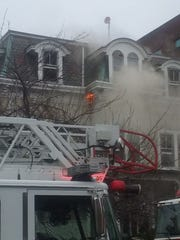 About 30 firefighters knocked down a blaze in the empty