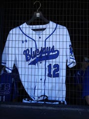 Tucker Westfall's jersey hangs in the Athens dugout