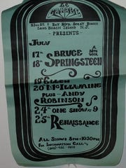 A flier advertises Bruce Springsteen concerts at Le