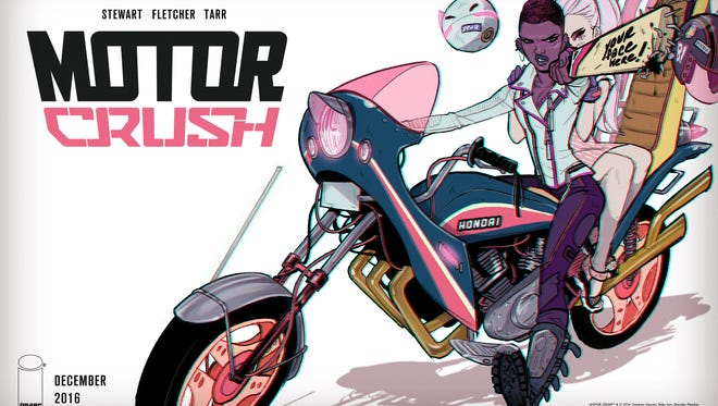 """Domino Swift is a fighting biker who leads a double life in """"Motor Crush."""""""