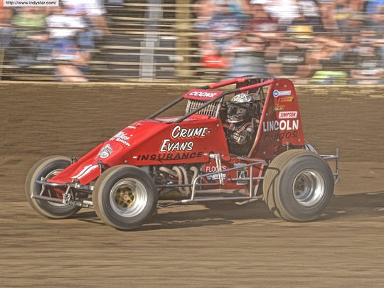 Jerry Coons Jr. during Indiana Sprint Week at Kokomo Speedway July 22, 2016.
