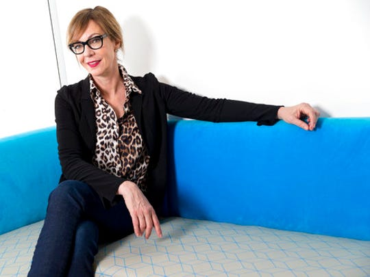 "In this March 29, 2017 photo, Allison Janney poses for a portrait in New York. Janney, who won Emmy Awards for her work in ""The West Wing"" and ""Mom,"" is starring in a Broadway revival of ""Six Degrees of Separation."""