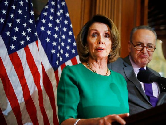 House Minority Leader Nancy Pelosi of Calif. with Senate