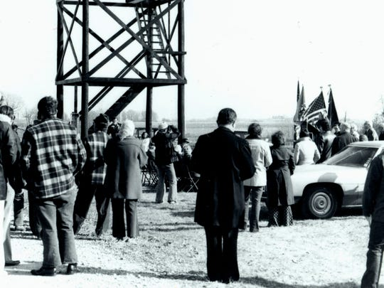 Cairo Skywatch Tower re-dedication, November 1976.