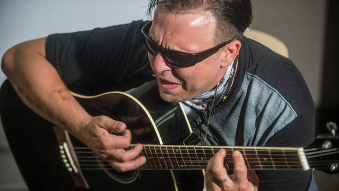 Corey Clark performs Monday, Aug. 8, in the Montgomery Advertiser newsroom for our ongoing original music series. Along with singing, Clark works closely with youth organizations, providing free guitar lessons.