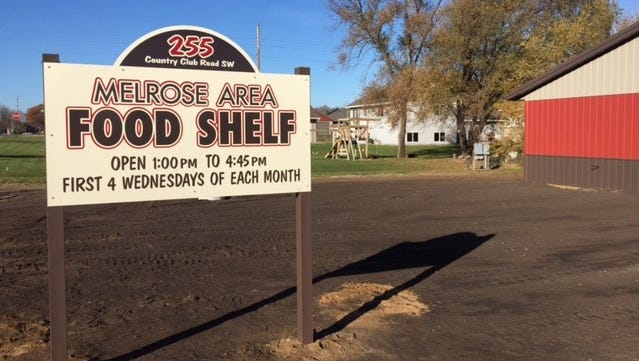 The Melrose Area Food Shelf was built after a March 2016 fire left it without a site.