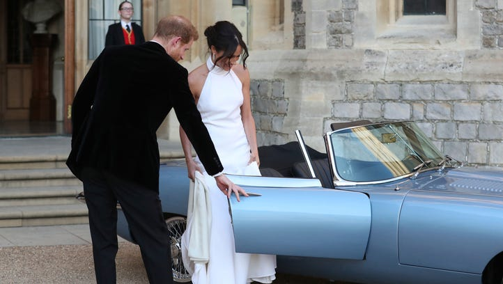 Harry and Meghan's wedding reception: See her new dress, and that Jaguar
