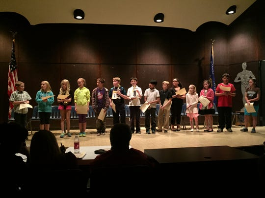 Neenah's top fifth-grade spellers competed in the 52nd