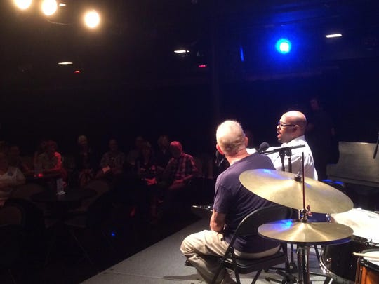 "Christian McBride talks Saturday afternoon at his ""Meet the Artist"" session at FlynnSpace."