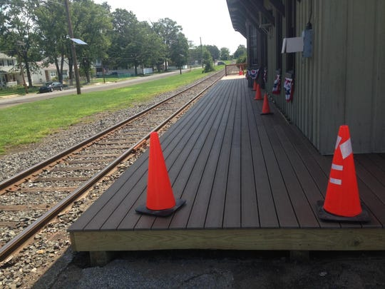 The Maple Shade Train Station has a new platform thanks to a local Boyscout.