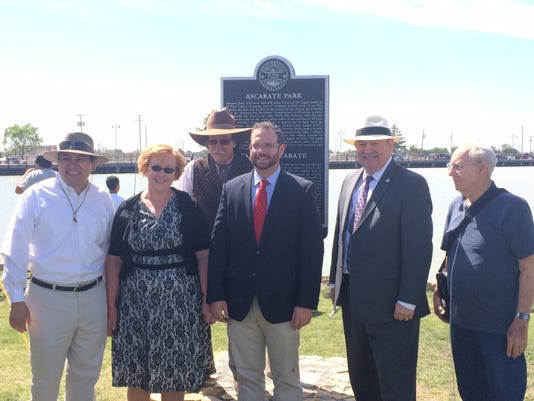 This historical marker placed at Ascarate Park Saturday outlines the history of the park.