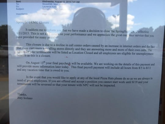 This note was posted on the door of an E. Sunshine