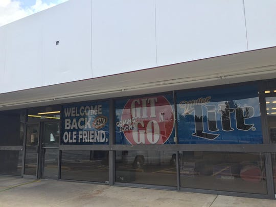 "A ""Welcome back, ole friend"" sign has posted at 3030 S. Jefferson Ave., where a Git n Go convenience store is slated to open next month."