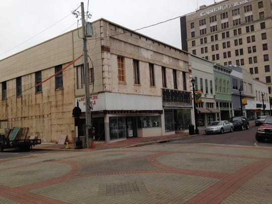 The building at the corner of Third and Johnston Streets in the early stages of renovation.