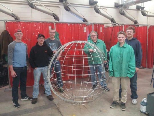 Menasha High School welding students recently completed