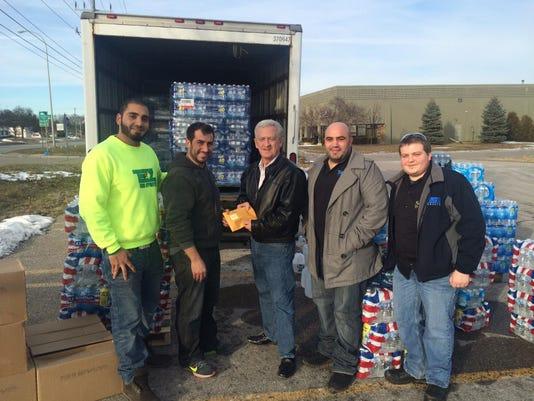 Flint water donation