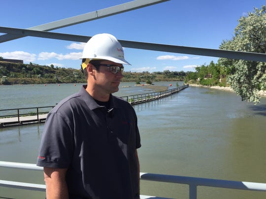 """""""It's going well,"""" Jeremy Butcher of NorthWestern Energy said of the reservoir draw-down."""