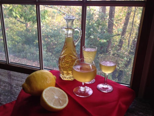 This limoncello can be made now and stored in the freezer