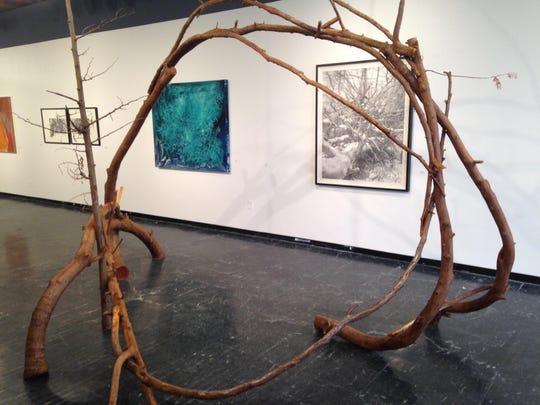 """Todd Erickson's white-cedar construction, """"Ziibi Gibigan,"""""""