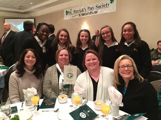 The Padua Student Council and several faculty and staff members were invited to join the St. Patrick's Day Society of Wilmington in its observance of St. Patrick's Day.