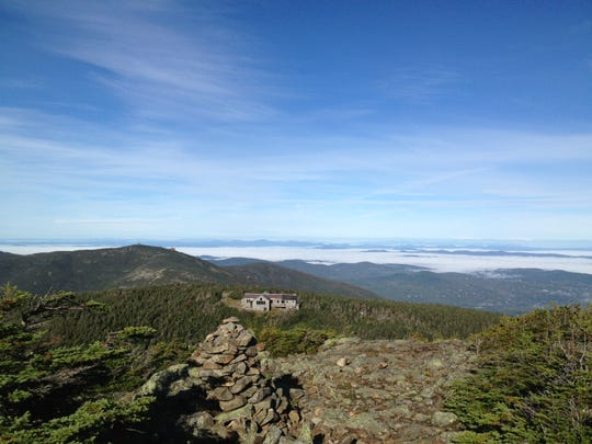 The Greenleaf Hut sits at 4,220 feet in New Hampshire's White Mountains.