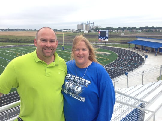 Brian and Mary Lohse have donated $3.4 million for Bondurant-Farrar's new football stadium, which is ready this week for the Bluejays' home opener.