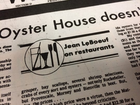 The first symbol used to denote the Jean Le Boeuf review columns.